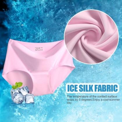 Women Fashion One Piece Seamless Ice Silk Panties Girls Clothing Underwear Panty