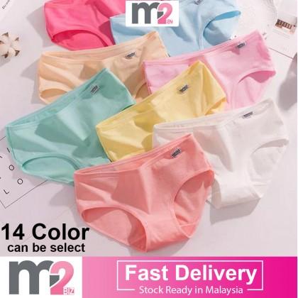 Premium Quality Cotton Underwear Women Underwear Candy Simple Panties Solid Color