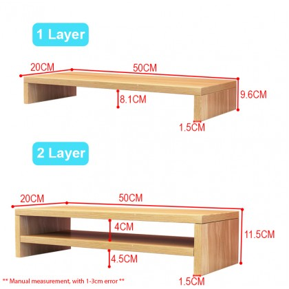 Computer Monitor Screen Increased Shelf Base Desktop Keyboard Rack Storage Tray Bracket Height Increased