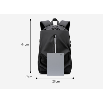 New Fashion Korean Style Bag Leisure Laptop Backpack Verticle Business School College Large With USB Adapter Cable