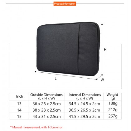 Soft Sleeve 13 14 15 inch Waterproof Notebook Tablet Case Pouch Cover Universal Inner Protect Laptop Computer Bag
